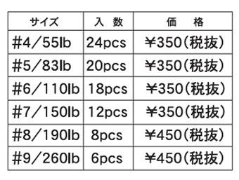 スプリットリング価格 PRICE